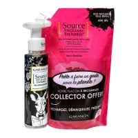 Source micellaire rose recharge 400ml & flacon vide 100ml