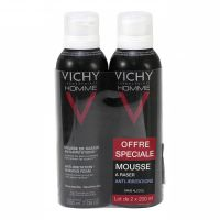 Mousse rasage anti-irritations Homme 2x200ml
