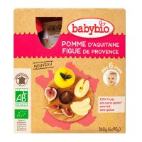 Gourde fruits pomme figue 4x90g