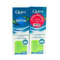 Solution lentilles contact Optik 2x360ml