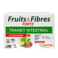 Fruits & fibres Forte transit intestinal 12 cubes